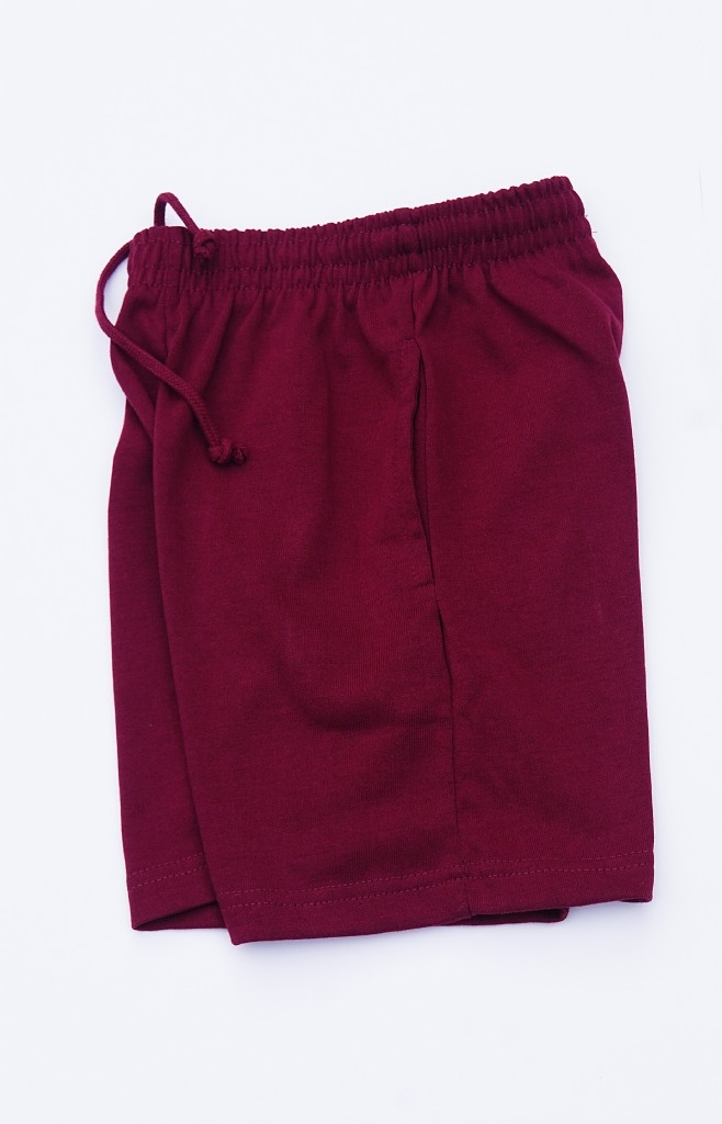 Maroon Rugby Knit Sports Short