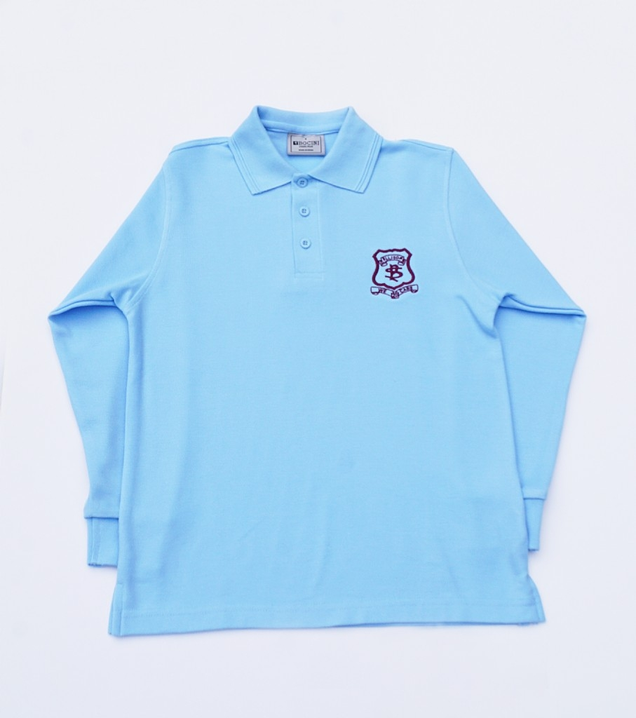 Long Sleeve Polo with emblem